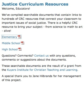 Justice Resources page